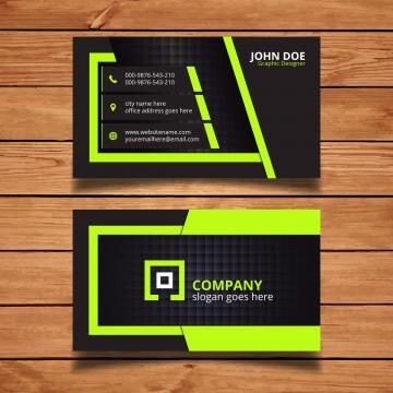 Green And Black Corporate Business Card Corporate Business Card Design Business Card Design Minimal Business Card Set