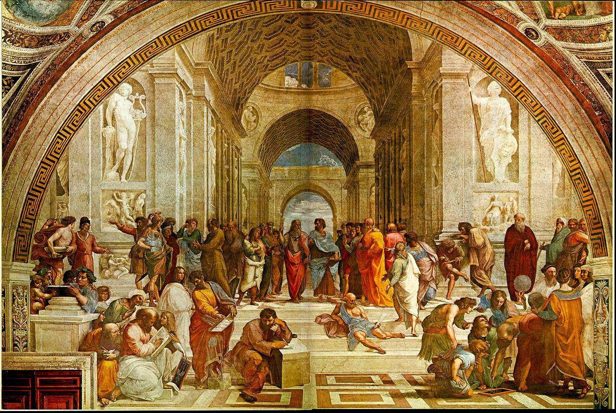 School of Athens by Raphael. Renaissance art was realistic
