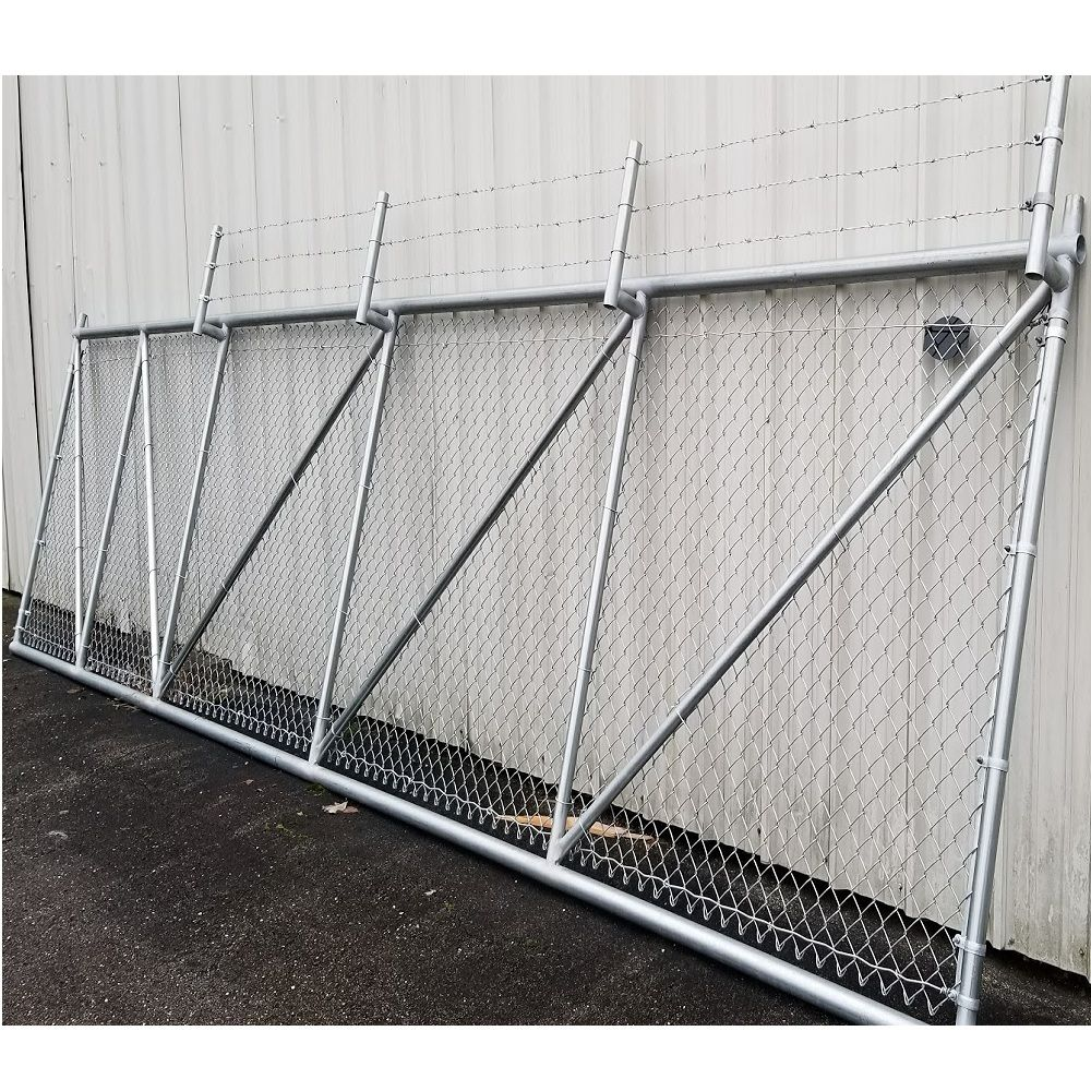 Hoover Fence Chain Link Fence Steel Cantilever Slide Gates Chain Link Fence Gate Chain Link Fence Security Fence