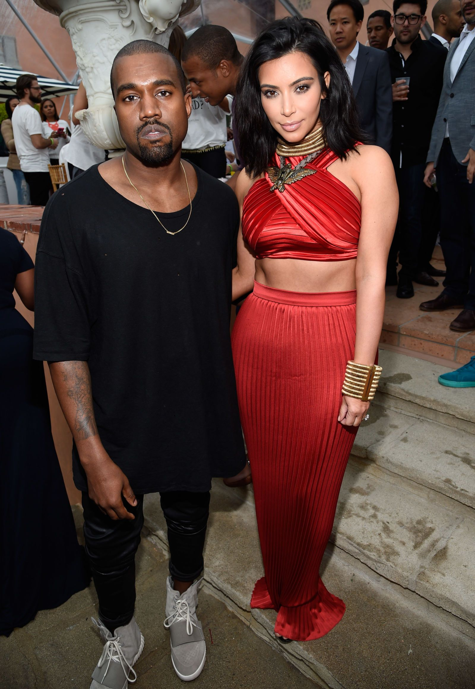 Beyonce Rihanna And Kim Kardashian Show Some Skin At Roc Nation S Pre Grammy Party Kim And Kanye Kardashian Style Kim Kardashian Show