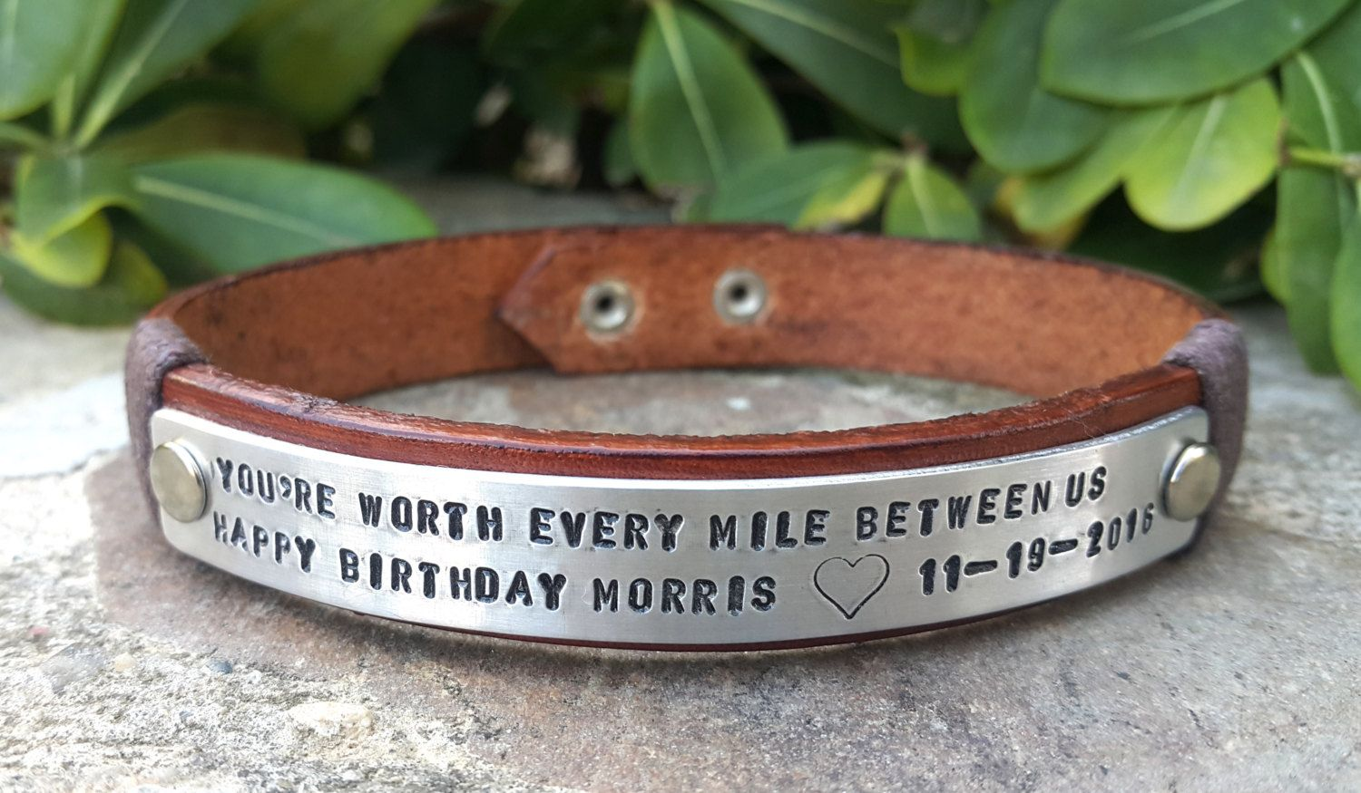 personalized custom kia him gift bracelet of military loss one bracelets memorial child for loved pin remembrance
