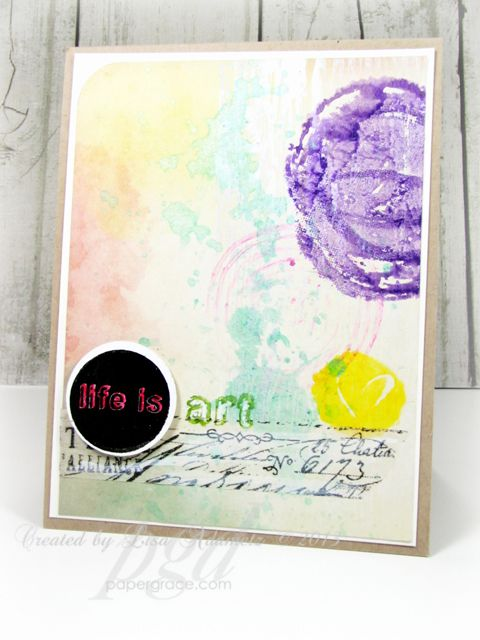 Hi!! Lisa with you here again and I'm super excited to have a VIDEO for you today. Woohoo! I was super excited to learn a nifty new way to use my Gesso in card-making and I thought I'd show you all how I used it in the above card. It's...
