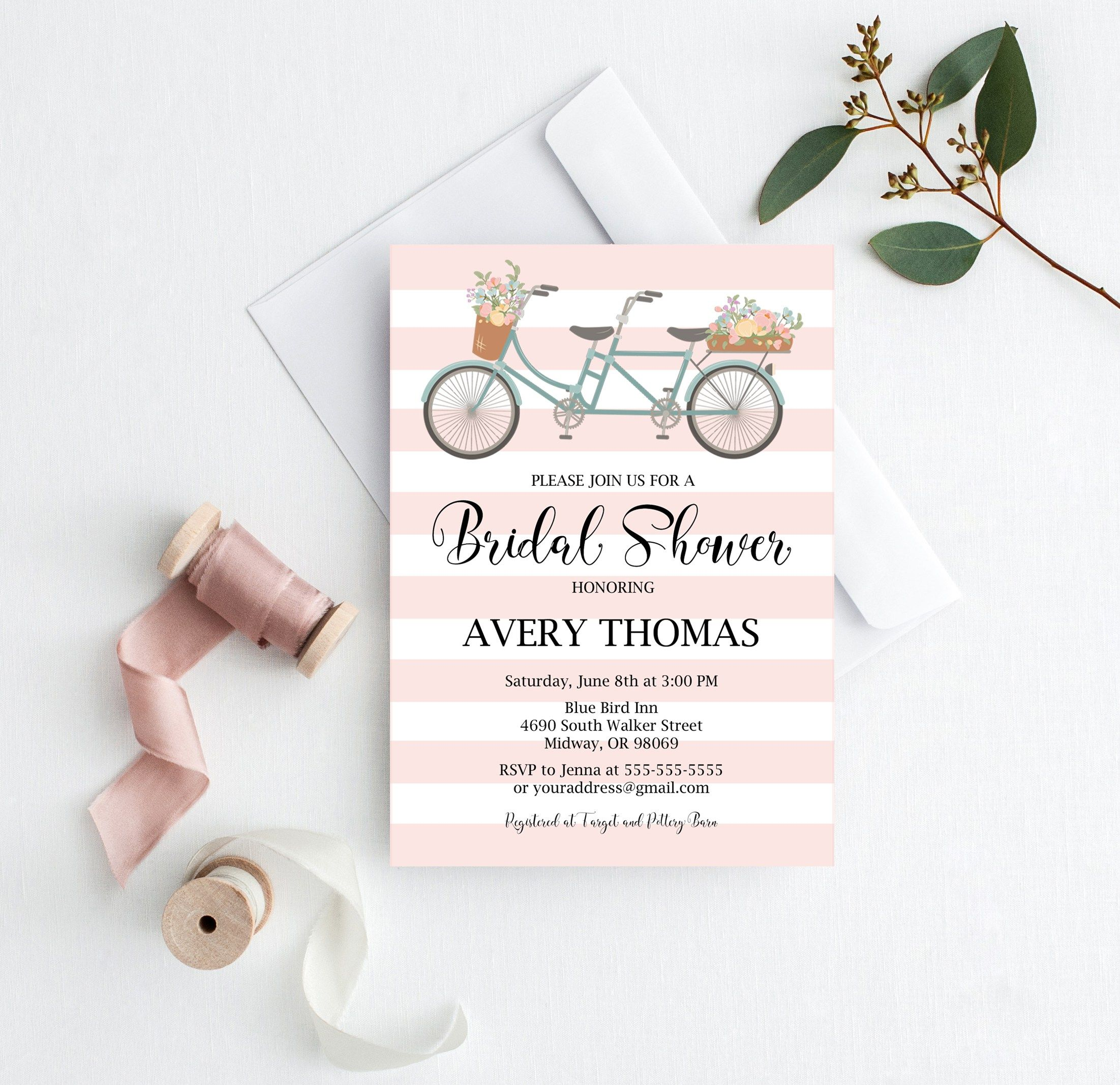 Bicycle bridal shower free printables bridal showers tandem and get your free tandem bicycle bridal shower invitation games and decor here easy to filmwisefo Choice Image