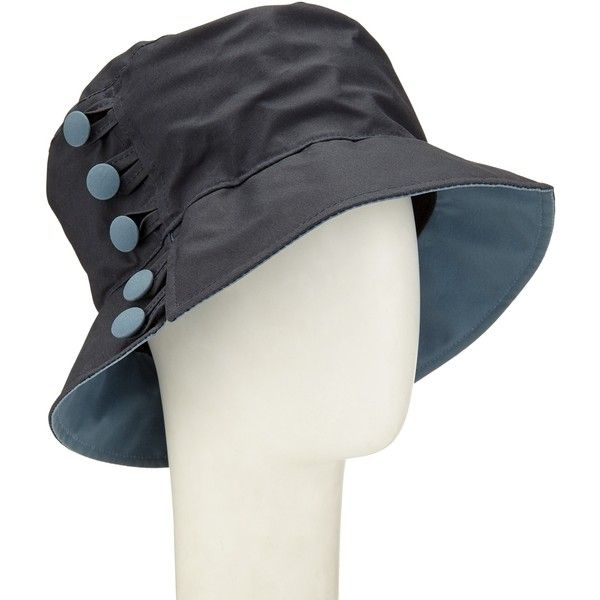 Olney Waxed Cotton Button Rain Hat, Navy/Airforce Blue ($59 ...