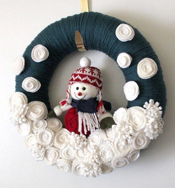 Ideen für Schneemannkränze - wie man einen wunderschönen ...