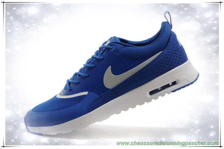 acheter populaire 2ce34 24f39 Hommes Nike Air Max Thea Print Sapphire Bleu / Argent ...