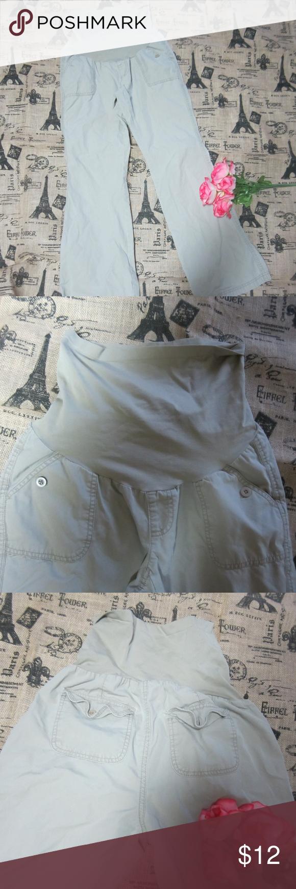 ab17212011c45 Oh baby by Motherhood Maternity S khaki tan Jeans Oh Baby by Motherhood  Maternity Size Small Khaki Tan Jeans Secret belly elastic waist, side  button pockets ...