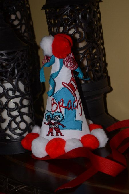 Dr Suess Thing 1&2 Custom boys or girls Personalized by sarilee, $29.50