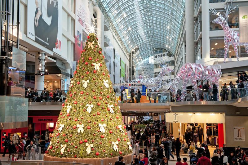 Shopping Mall Decorated For Christmas The Eaton Centre In Toronto Ontario Can Sponsored Sponsore In 2020 Christmas Stock Photos Christmas Editorial Eaton Centre