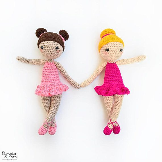 CROCHET PATTERN in English - Tracey the Ballerina Doll - Ballet - 11 ...