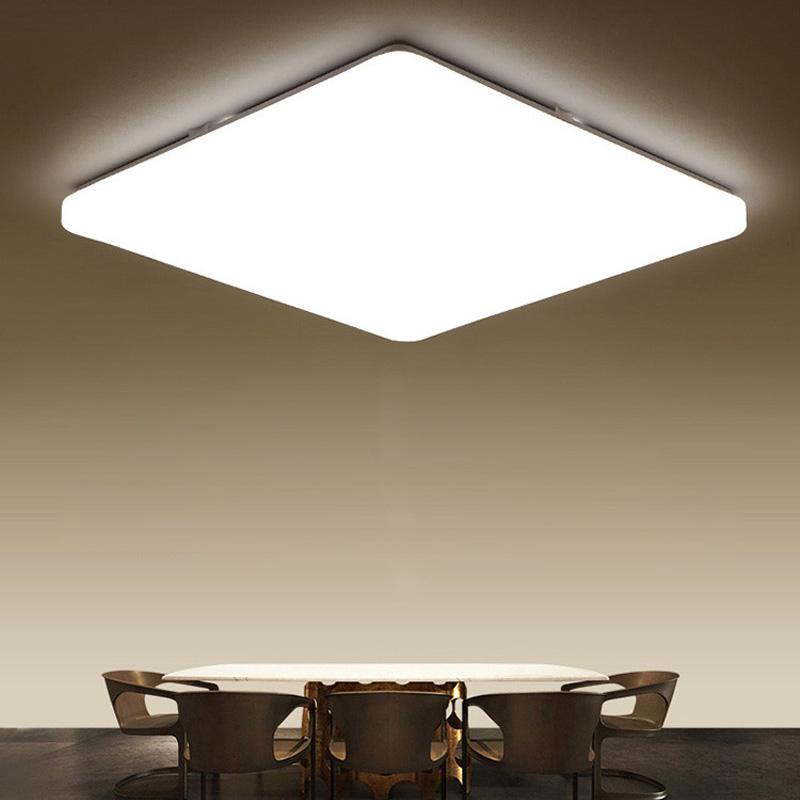 Super Thin Led Flush Mount Modern Square Ceiling Light Acrylic