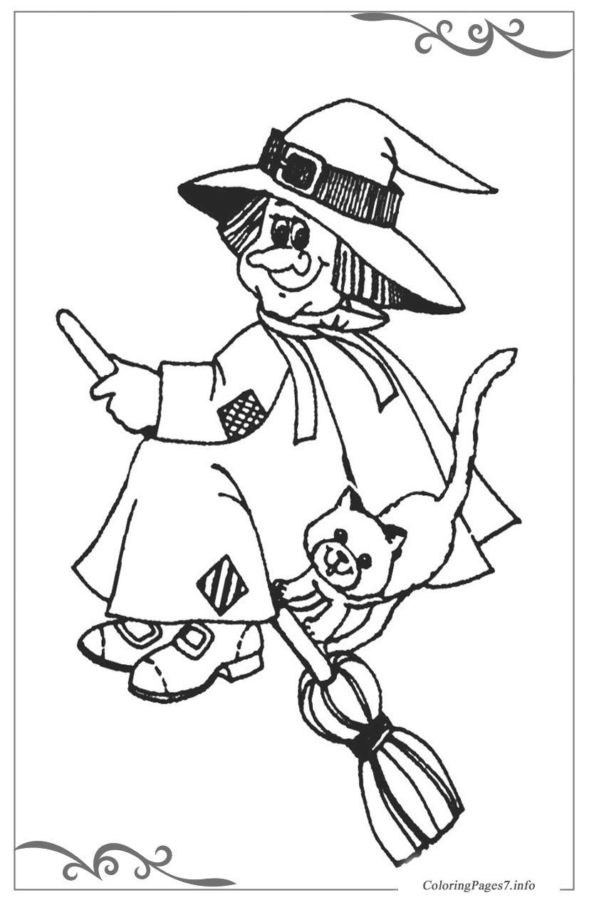 Witches printable coloring pages for kids colouring pages