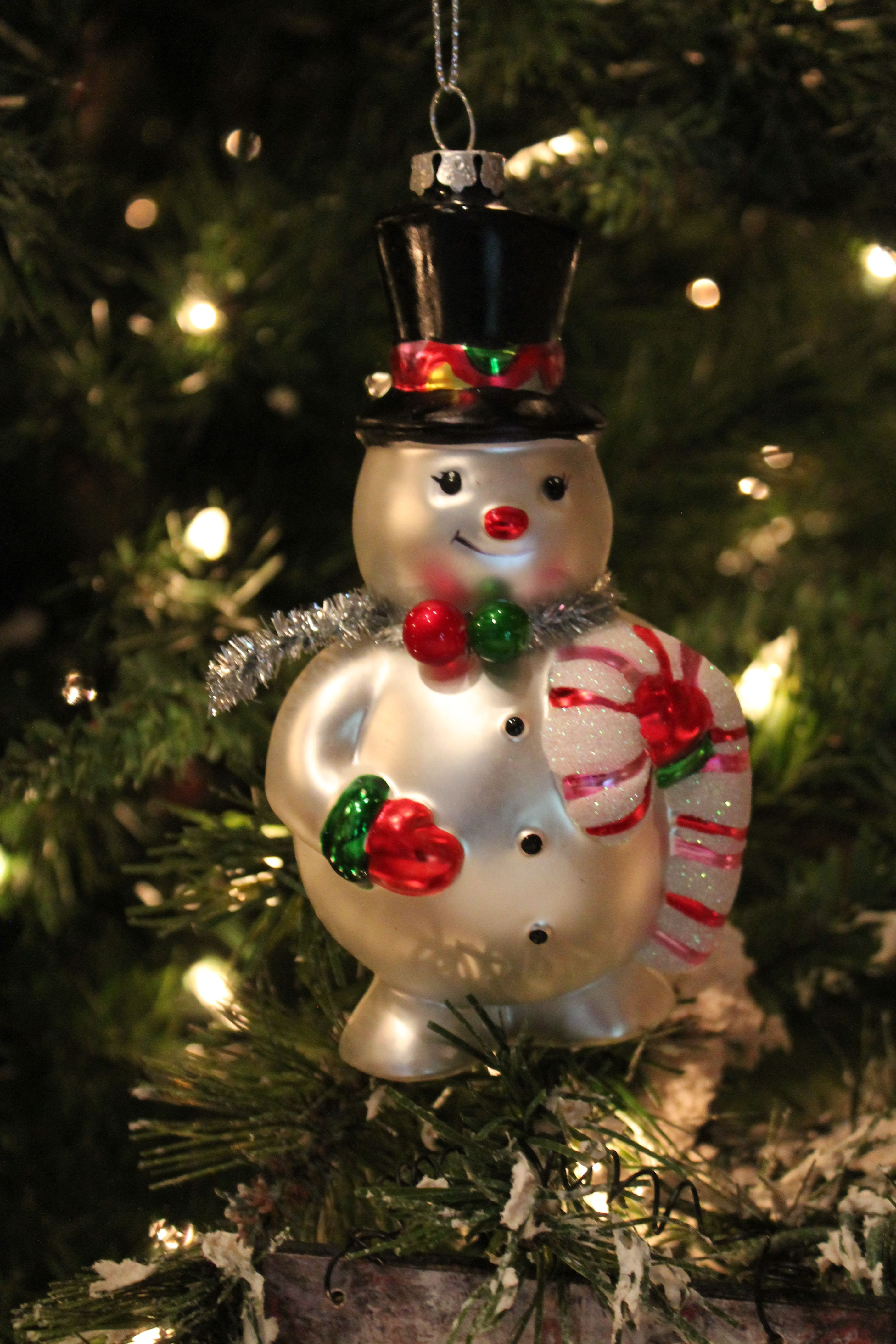 "6"" Glass Snowman Christmas Ornament Snowman christmas"