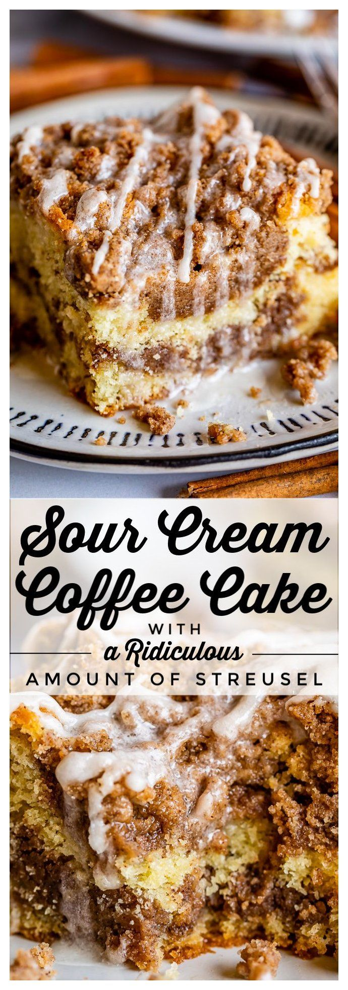 Sour Cream Coffee Cake With A Ridiculous Amount Of Streusel From The Food Charlatan Best In 2020 Coffee Cake Recipes Easy Sour Cream Recipes Sour Cream Coffee Cake