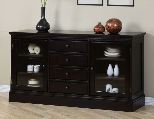 This Attractive Buffet Cabinet Is Perfect For Storing Items In A Classy Way There Are Six Display Shelves Built Inside The Two Cabinets Which Feature