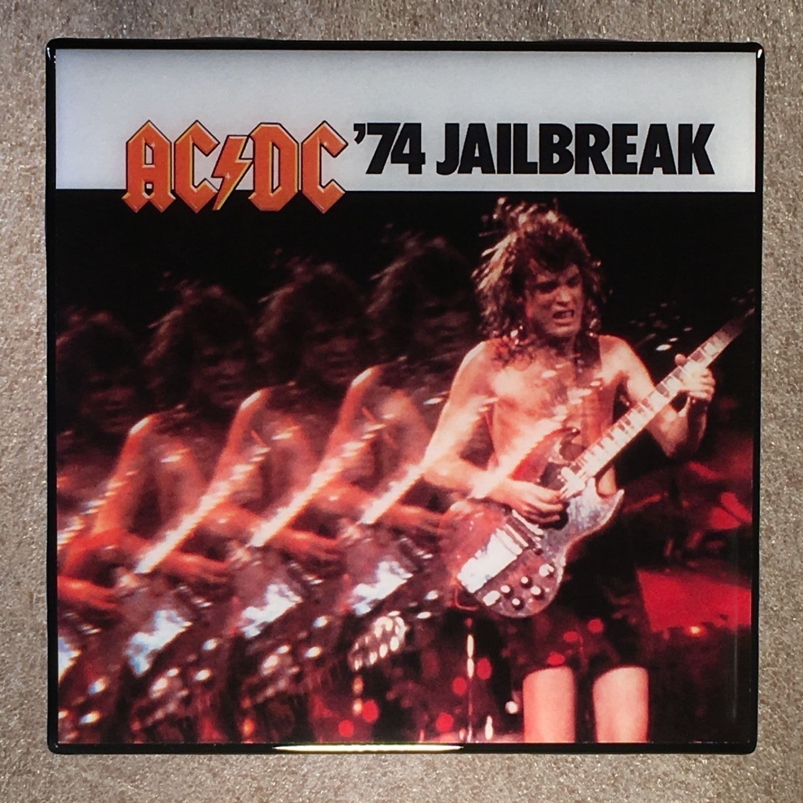 Acdc 74 Jailbreak Coaster Record Cover Ceramic Tile Ac Dc And