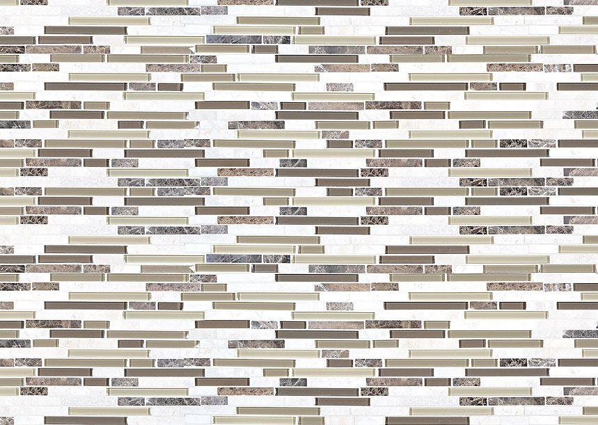 Kitchen Tiles Texture Beige Brown Mosaic Travertine Backsplash Tile