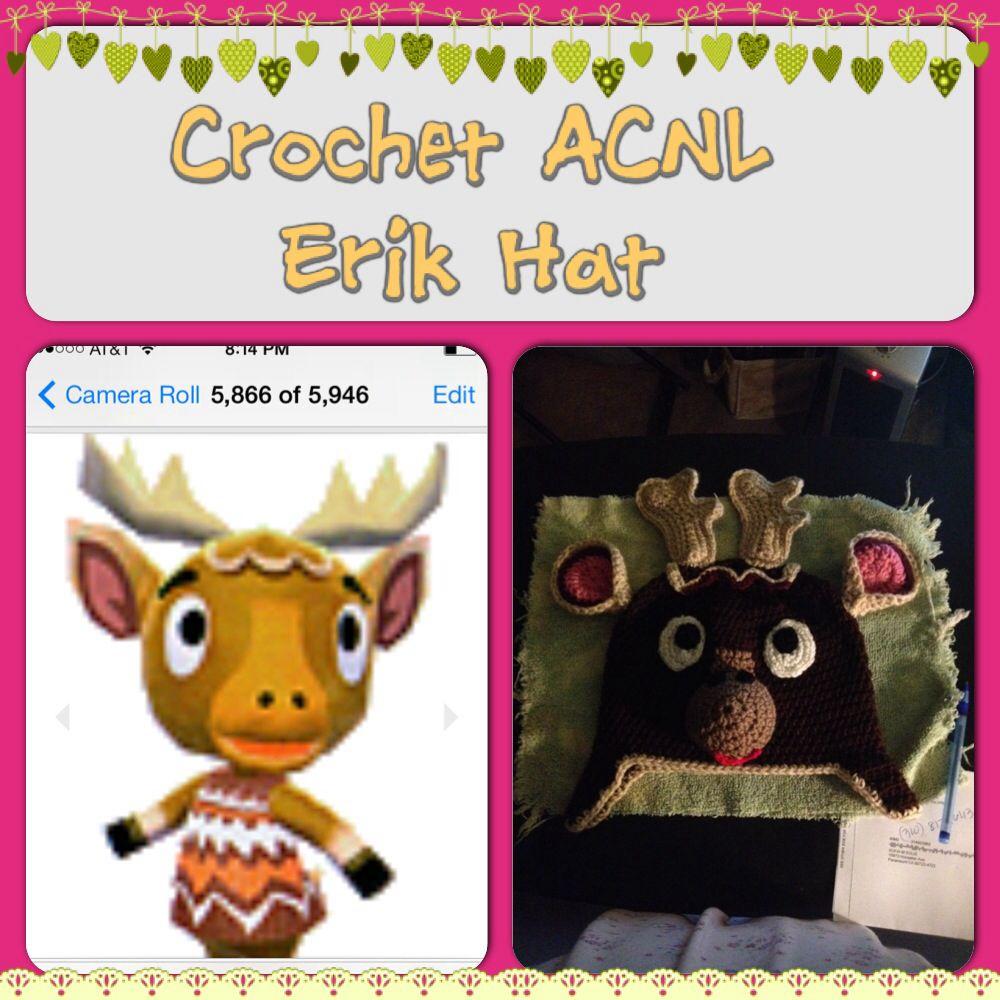 Crochet ACNL Erik Hat | Crochet character hats | Pinterest