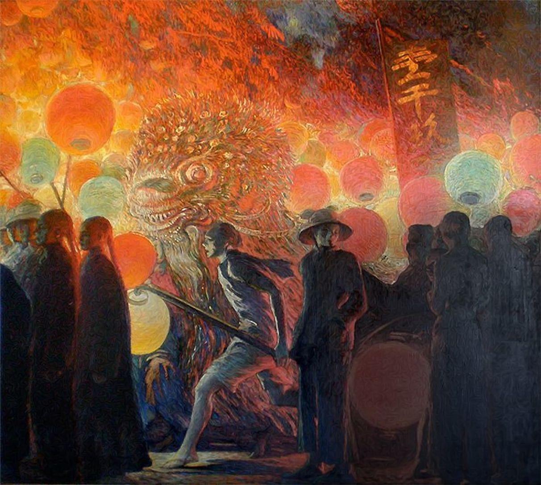 Galileo Chini (18731956) Chinese New Year in Bangkok