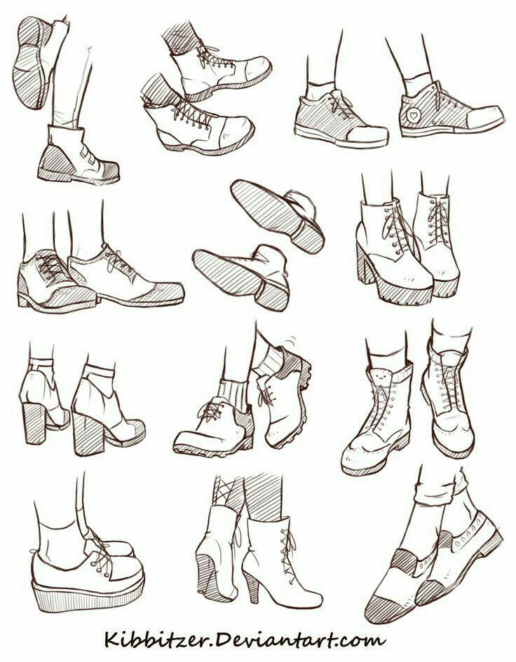 Shoes; How to Draw Manga/Anime 드로잉 강좌, 스케치 및 스케치 그리기
