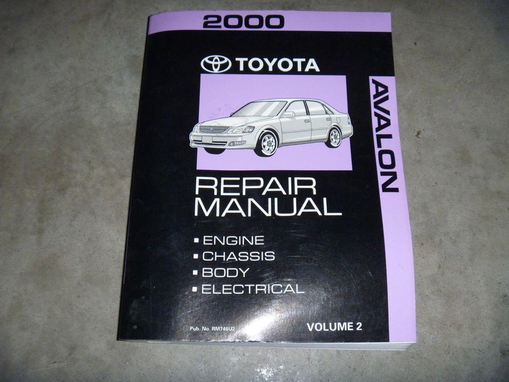 2000 toyota avalon parts manual