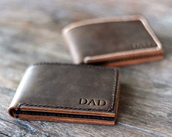 Personalized Mens Leather Wallet - Custom Engraved  BIGGER is always BETTER and with that statement, we introduce...  The BIG TEXAS!  This wallet is not for the minimalist. Its for the manly man. If you own a truck, then this is the wallet for you.   ————————————————————— [ PRODUCT FEATURES ] —————————————————————  ♦ Closed Dimensions - 0.5 x 3 5/8 x 4 3/8 ♦ (Metric) 1.5 cm x 9 cm x 11 cm ♦ 6 card pockets inside ♦ 1 big pocket for all your cash ♦ Fits unfolded money (all currencies)...