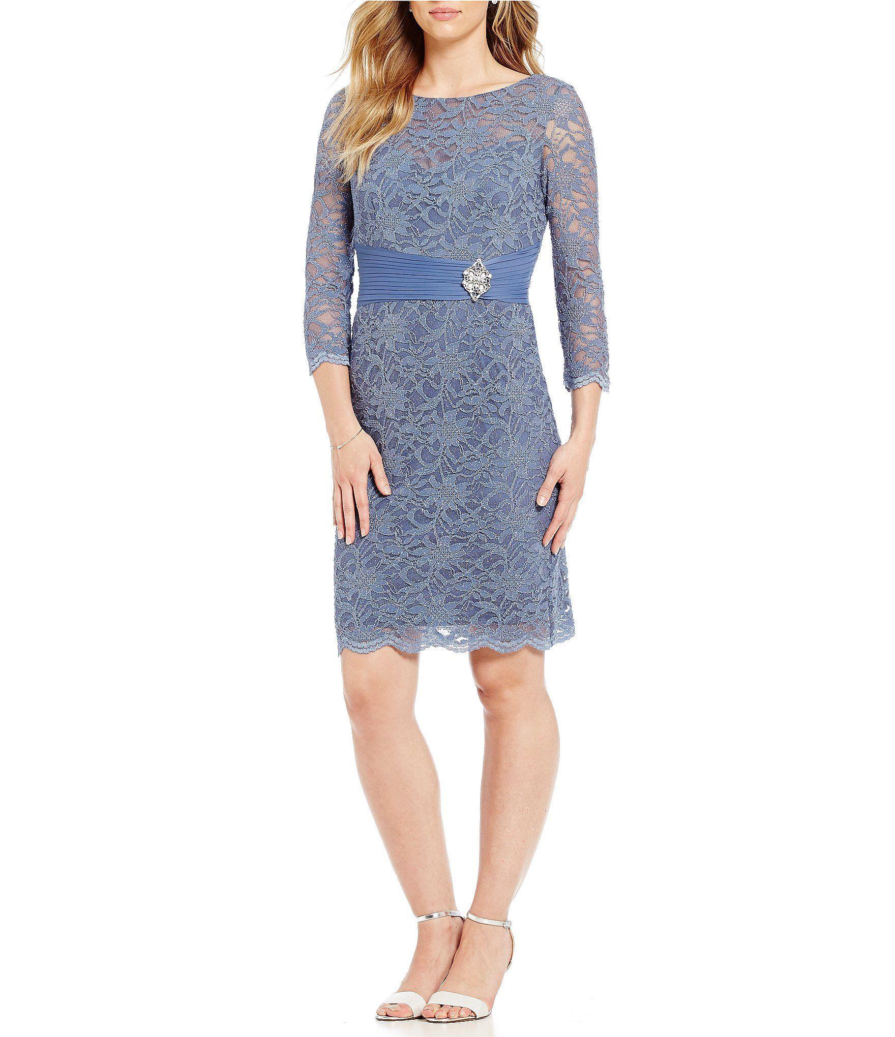 c28b6697de6 Cachet Lace Sheath Dress  Dillards