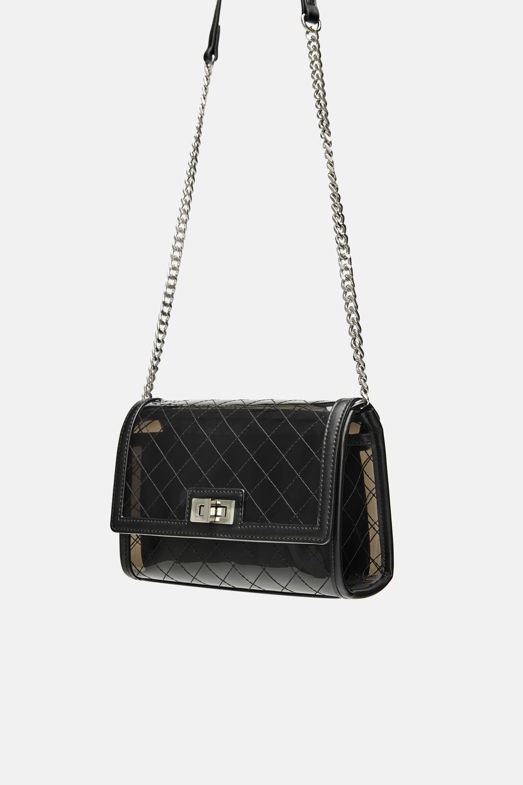 Image 6 of VINYL CROSSBODY BAG WITH INTERIOR BAG from Zara   Style ... 739c06d4a7
