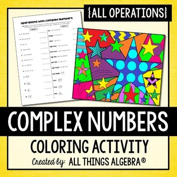 Complex Numbers Coloring Activity Complex numbers, Color