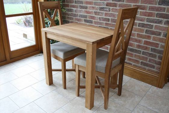 2 Seater Solud Oak Minsk Table From Dts Small Dining Table Set Small Dining Table Dining Table Top