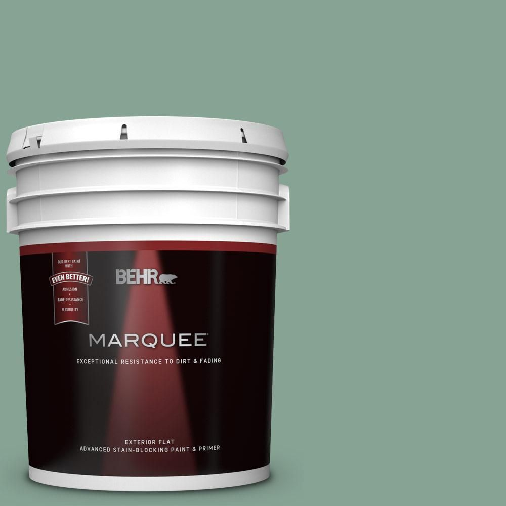 Photo of BEHR MARQUEE 5 gal. #T16-12 Modern Mint Flat Exterior Paint and Primer in One