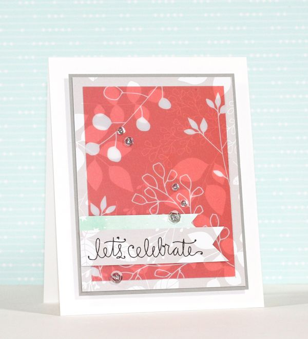 Such a Pretty card by Stephanie Klauck using the September 2015 card kit by Simon Says Stamp