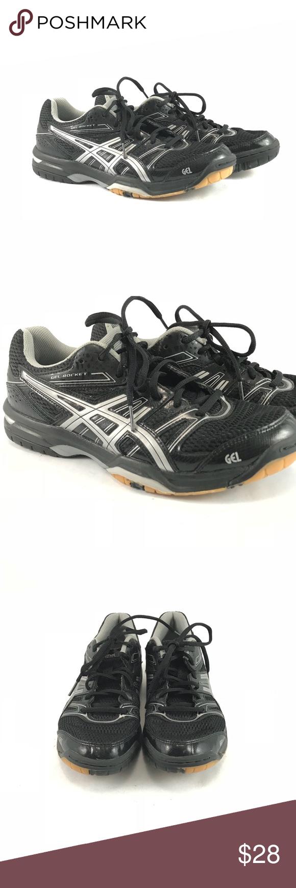 Black Asics Gel Rocket Sneakers Woman S Size 8 Black Asics Asics Gel Volleyball Shoes