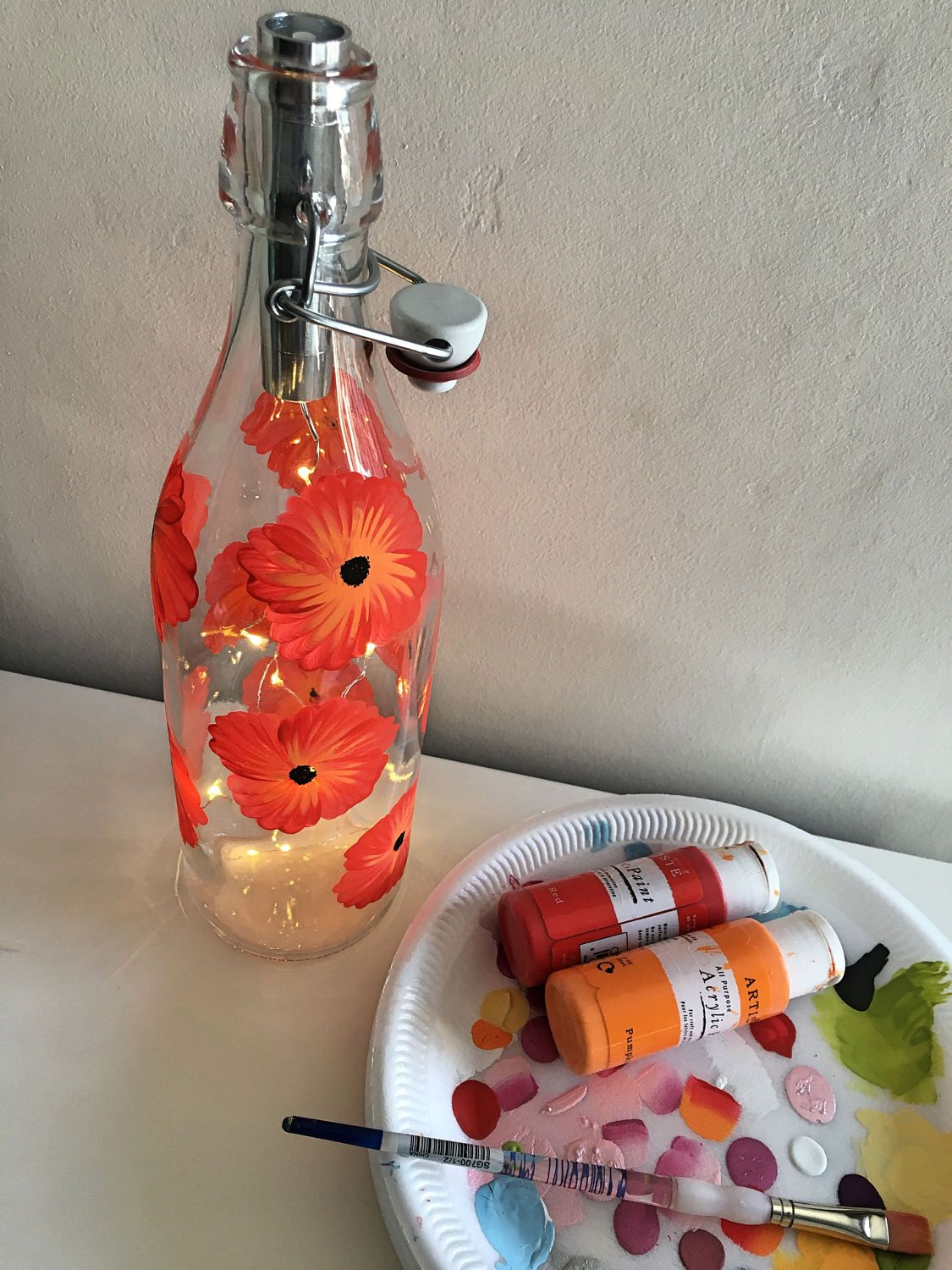 Lighted bottle poppy poppies hand painted lights easter gift lighted bottle poppy poppies hand painted lights easter gift wedding negle Gallery