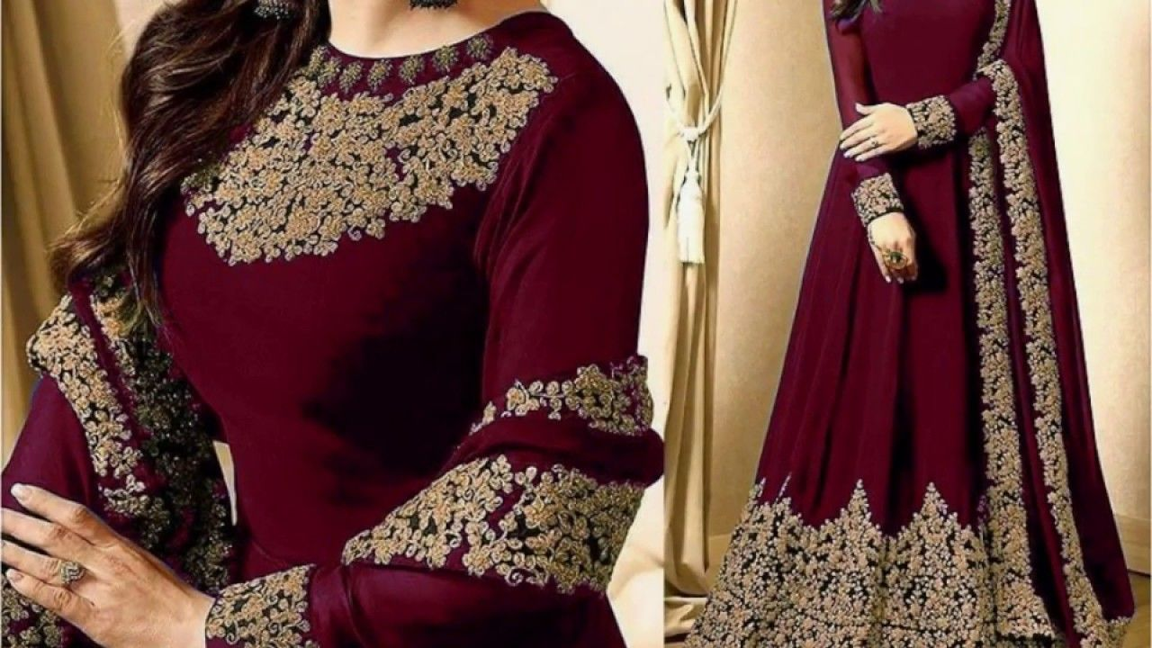 88760f12817cf BEAUTIFUL EMBROIDERED CHIFFON LONG MAXIS IN BEAUTIFUL COLOURS WITH ...