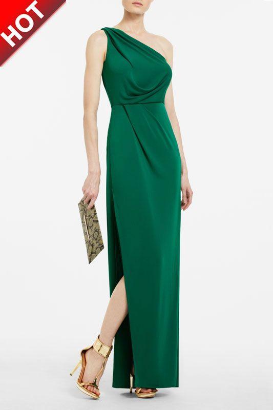 75588a297405 cheap Bcbg sale max azria snejana one shoulder evening gown green bd0 DS123  £101.65 Save
