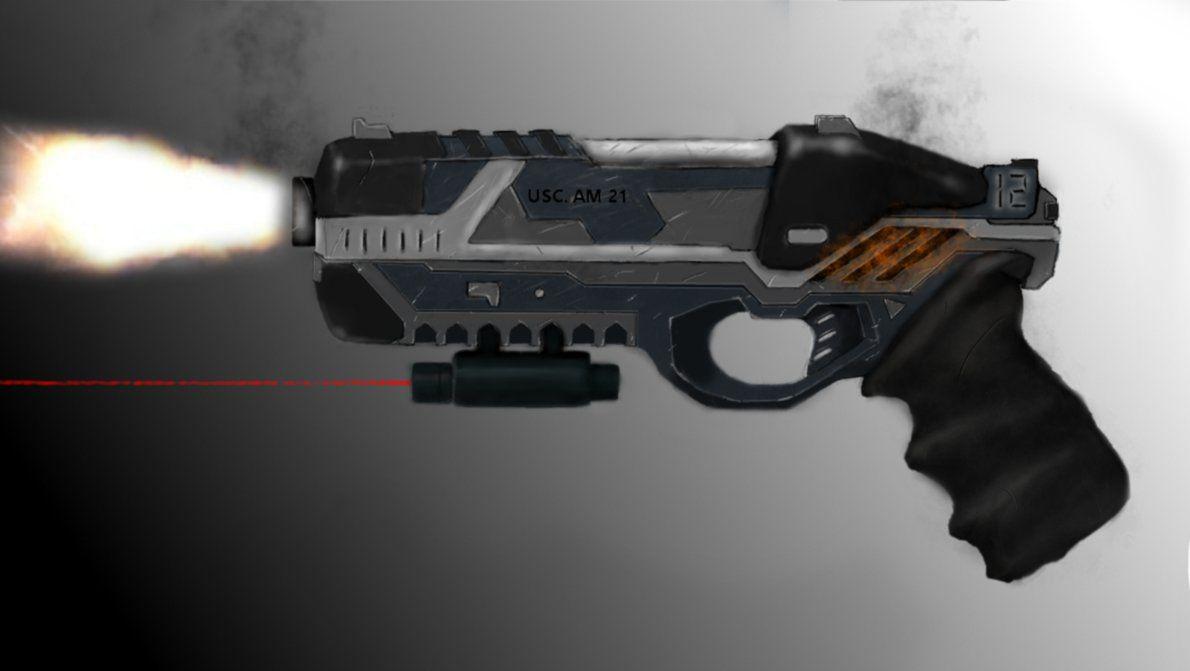 Futuristic pistol concept art by Braffe | future guns ...