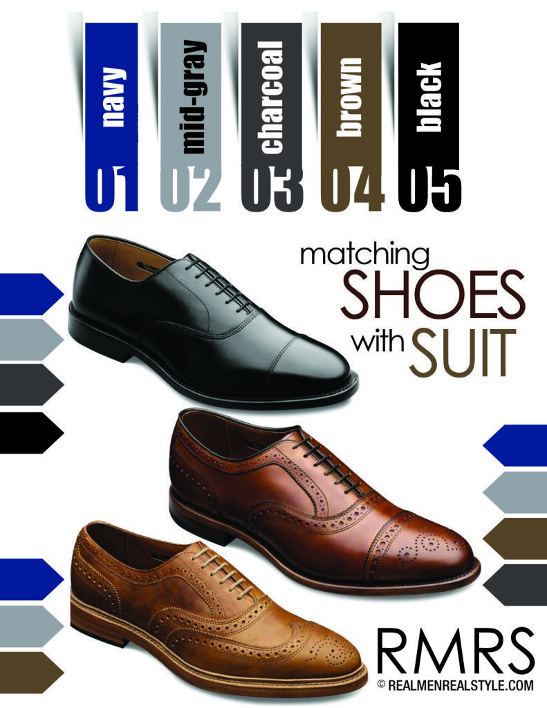Matching Dress Shoes And Suits | How To Match A Shoe With Any Suit Color