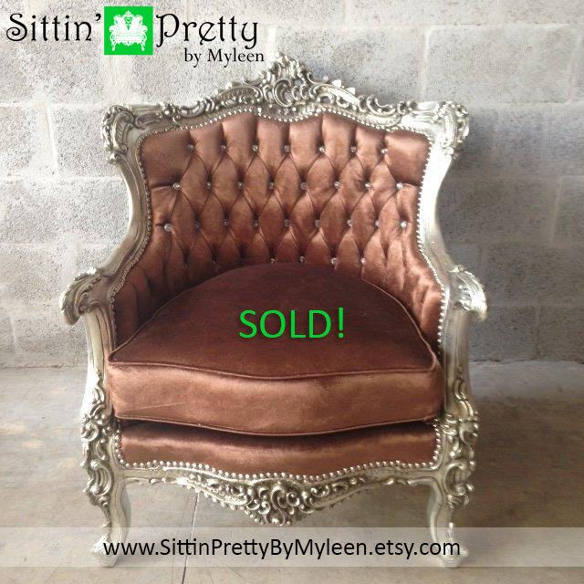 SOLD* Antique French Louis XVI Chairs Fauteuils Wingback Bergere Sofa  Settee Couch Silver Leaf ReUpholster