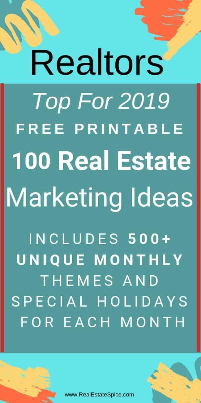 2020 e-Guide: '100 LUCRATIVE Realtor® Ideas & Strategies' #realestatetips