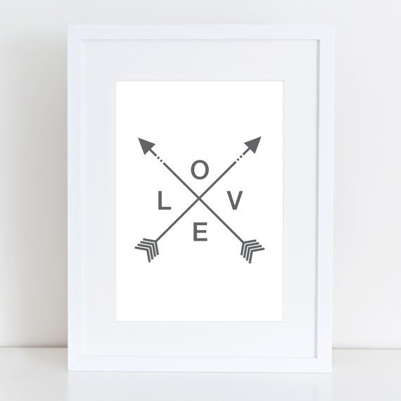 Gray Arrows, Tribal Print, Watercolor Art, Gray, Tribal Arrows, Arrow Print, Printable Wall Art, Digital Prints, Tribal Art, Arrow Home Art on Etsy, $5.00