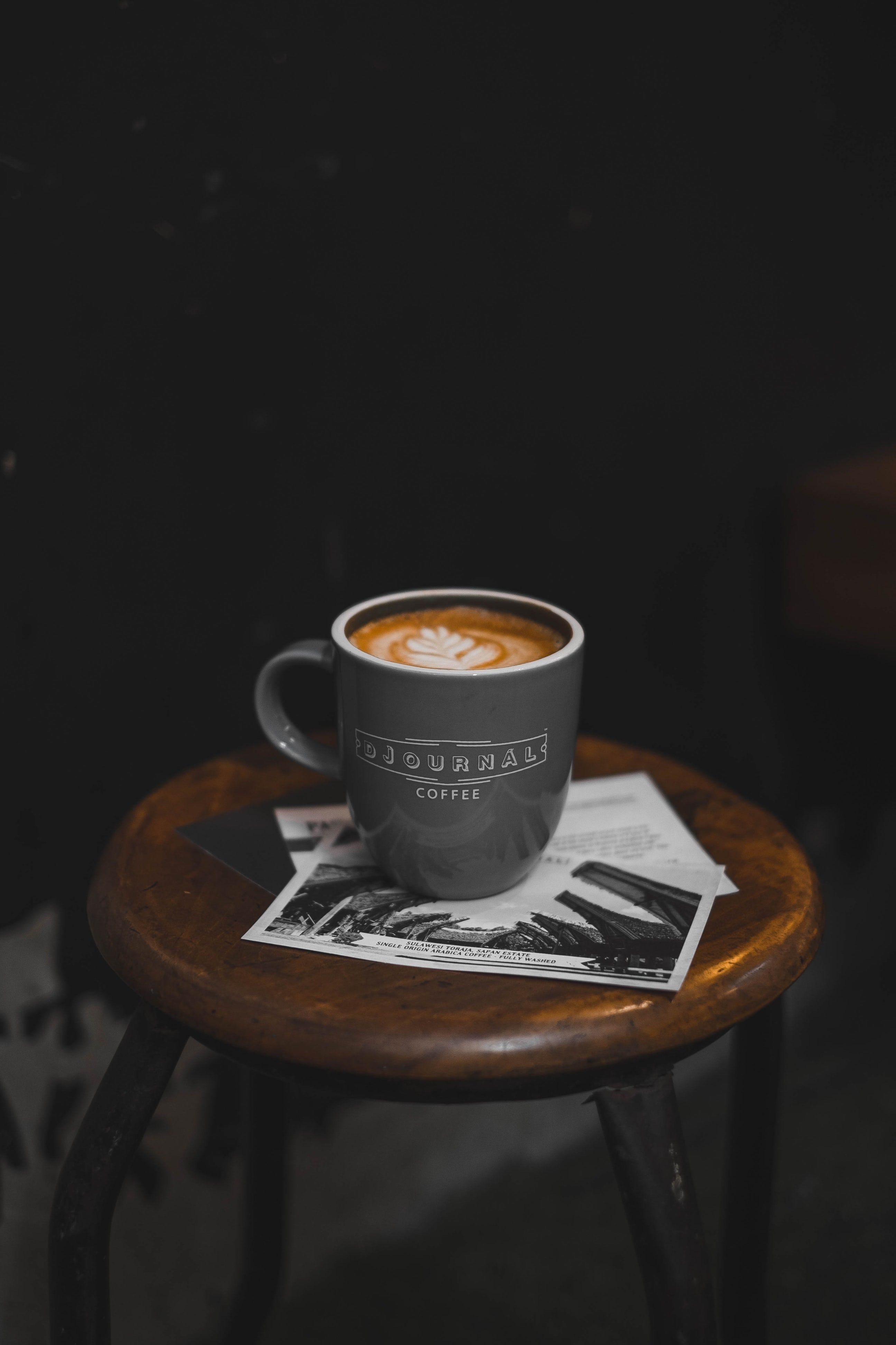 Black Coffee Mug Filed With Espresso Coffee Coffee Wallpaper