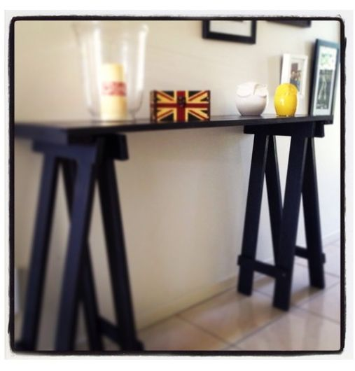 Trestle Hall Table
