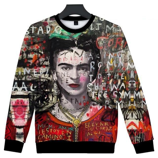 b6b91aac2 3D Frida Kahlo Print T-shirts in 2019 | Frida kahlo | Sweatshirts ...
