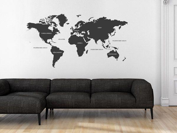 Dekorieren in Schwarz und Weiß - Ideen mit Wandtattoos - deko schwarz wei wohnzimmer