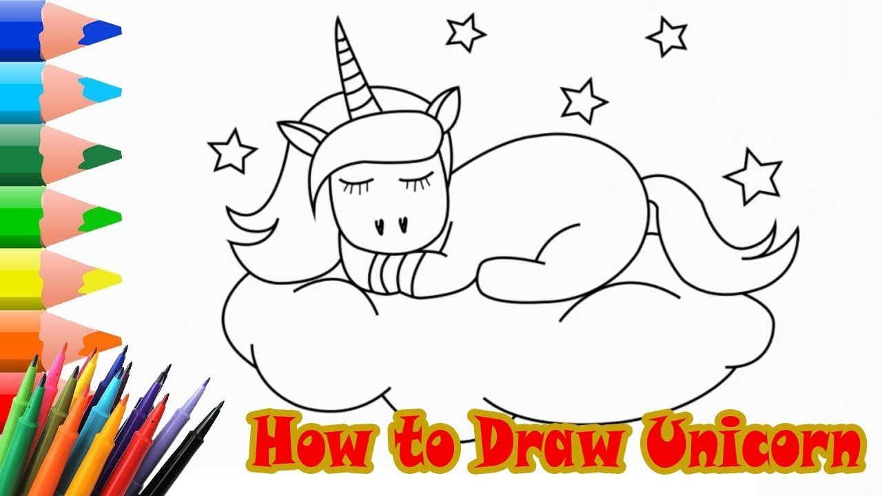 How To Draw A Unicorn Emoji Easy Step By Step Draw For Children Lea Step By Step Drawing Drawing For Kids Unicorn Drawing