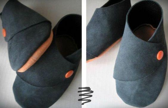 la meilleure attitude 23eb4 4b758 tuto chaussons bébé cuir   Baby Shoes   Tuto couture ...
