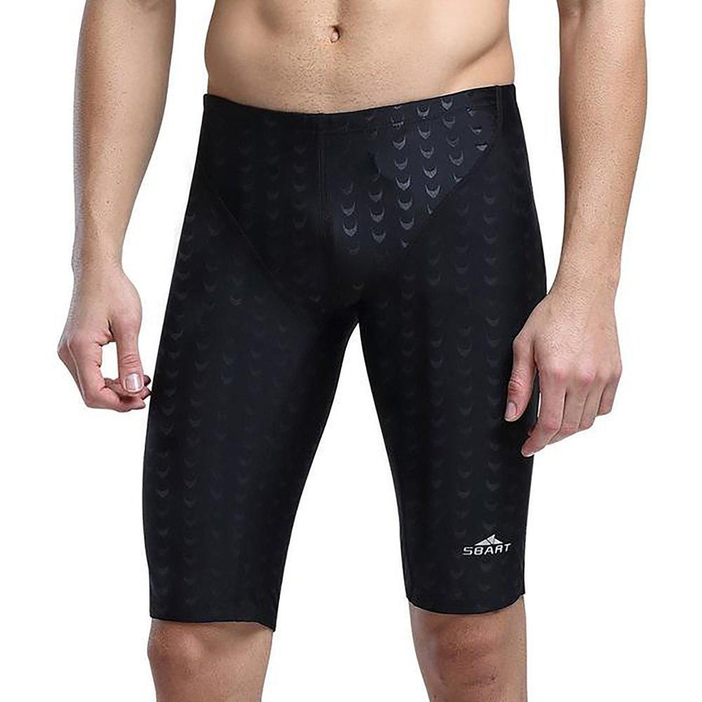 56100f50d7c9e Swimwear Men Competitive Swim Trunks Male Swimsuit Racing Jammers Sharkskin  Swimming Board Shorts Plus Size 5XL Black XXXL