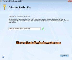 microsoft office enterprise 2007 product key free