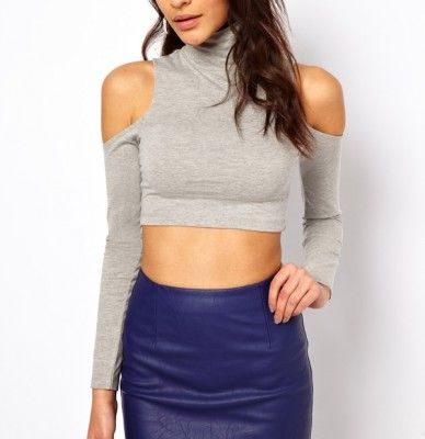 c8d424a51beed Simply Sexy Cropped Shoulderless Top - PREPPY BEE